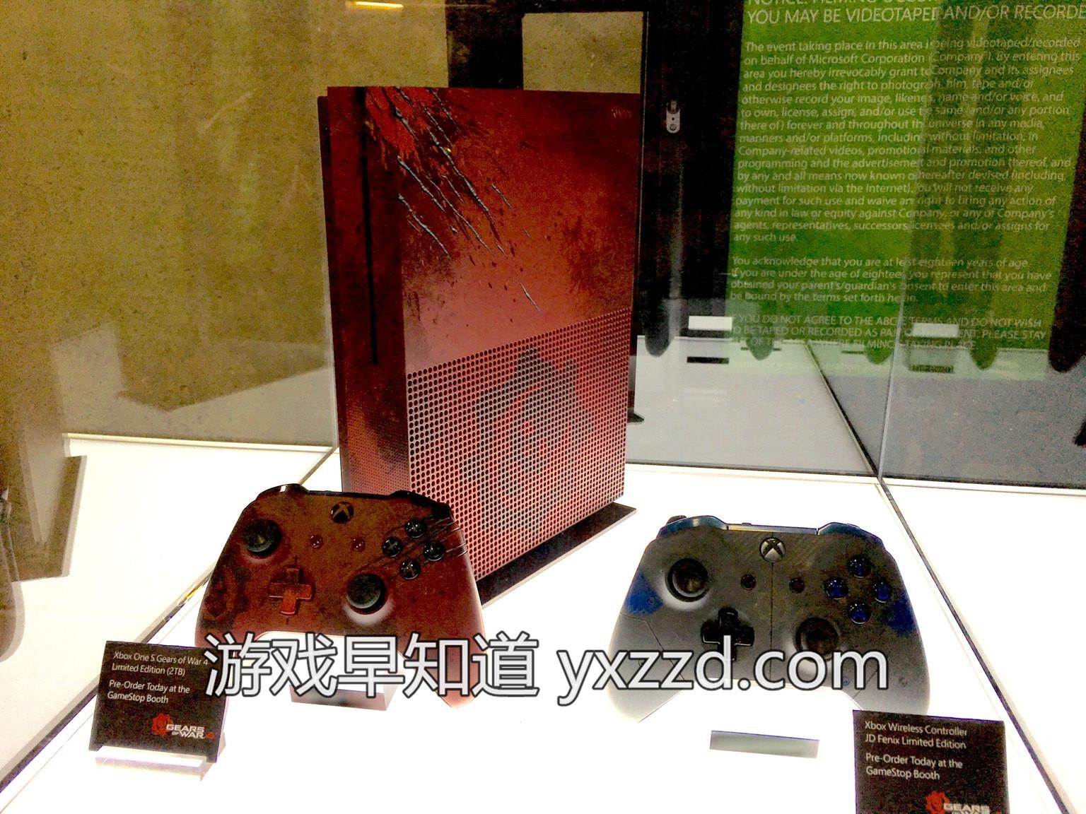 血红色Xboxone S《战争机器4 Gears of War 4》同捆版主机