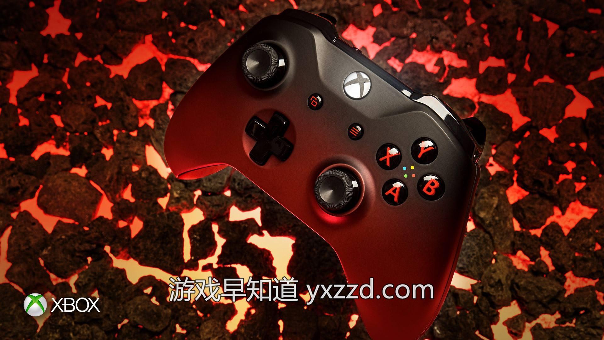 Xbox One熔岩红手柄