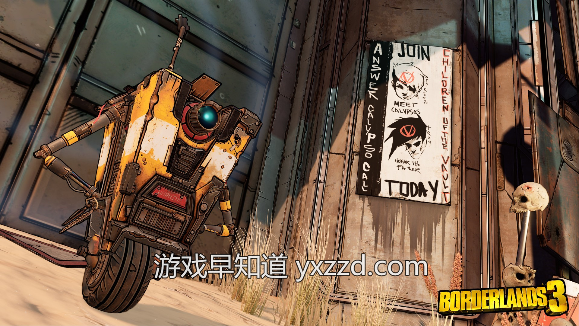 此图像的alt属性为空;文件名为2KGMKT_BL3_Launch_Screenshots_Claptrap_3840x2160.jpg