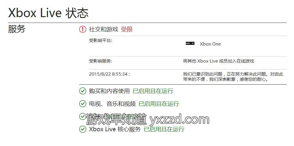 Xbox Live受限