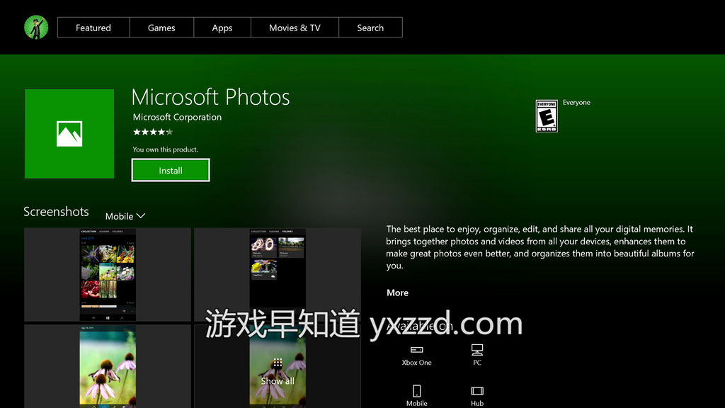 Xboxone 微软照片