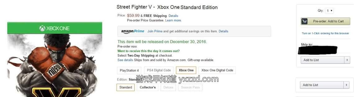 Xboxone街头霸王5 Street Fighter V