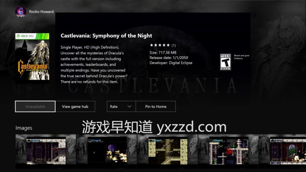 Xboxone恶魔城:月下夜想曲 Castlevania: Syphony of the Night