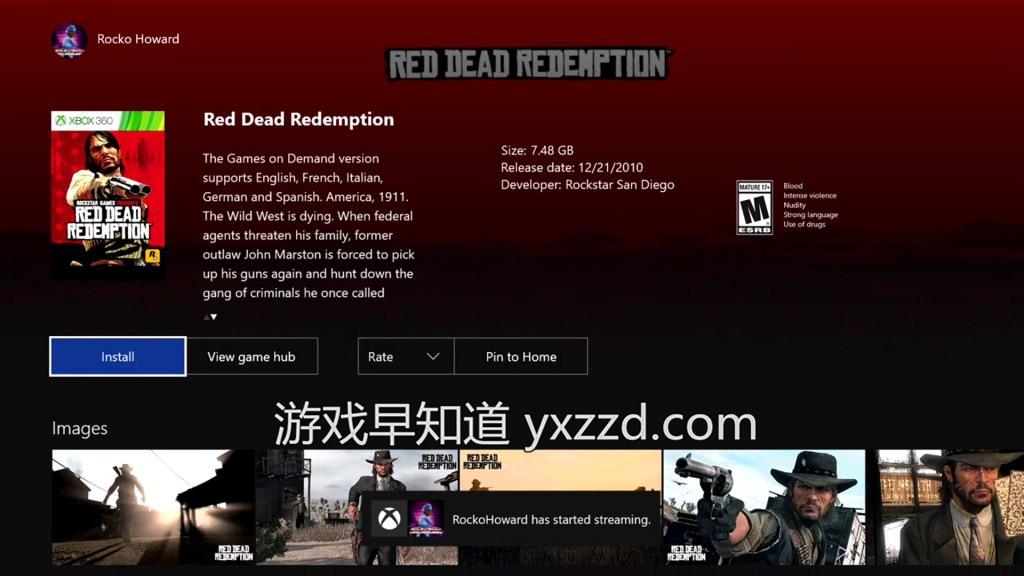 Xboxone荒野大镖客救赎Red Dead Redemption