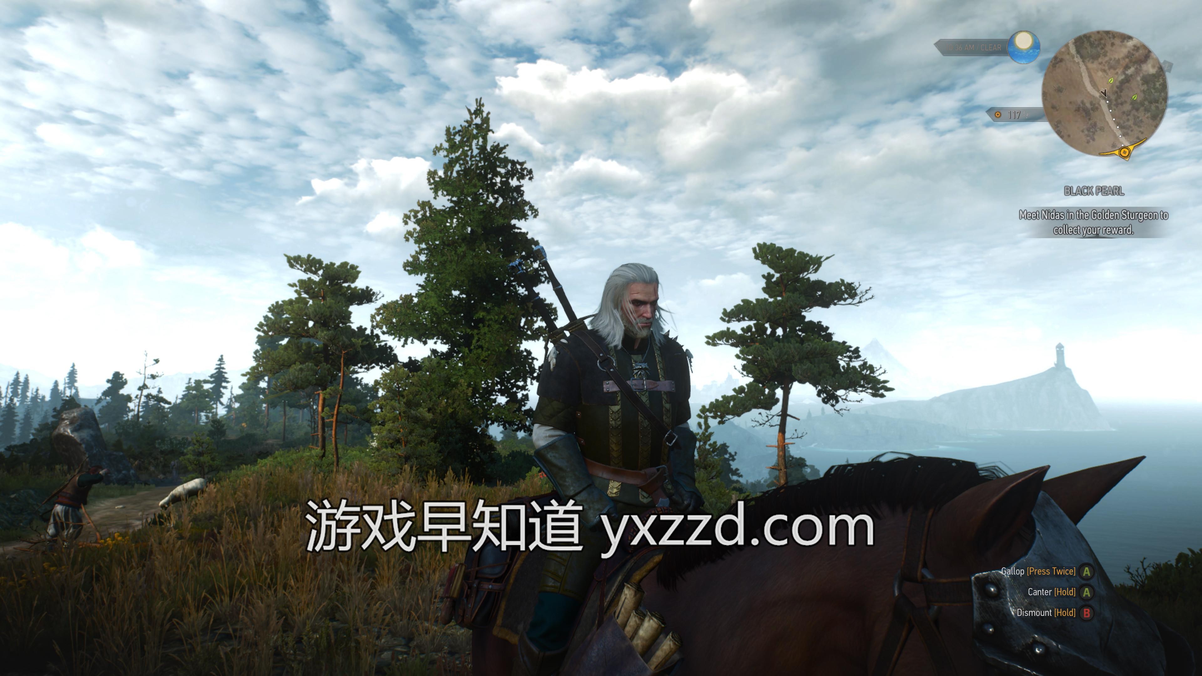 Xbox One X巫师3