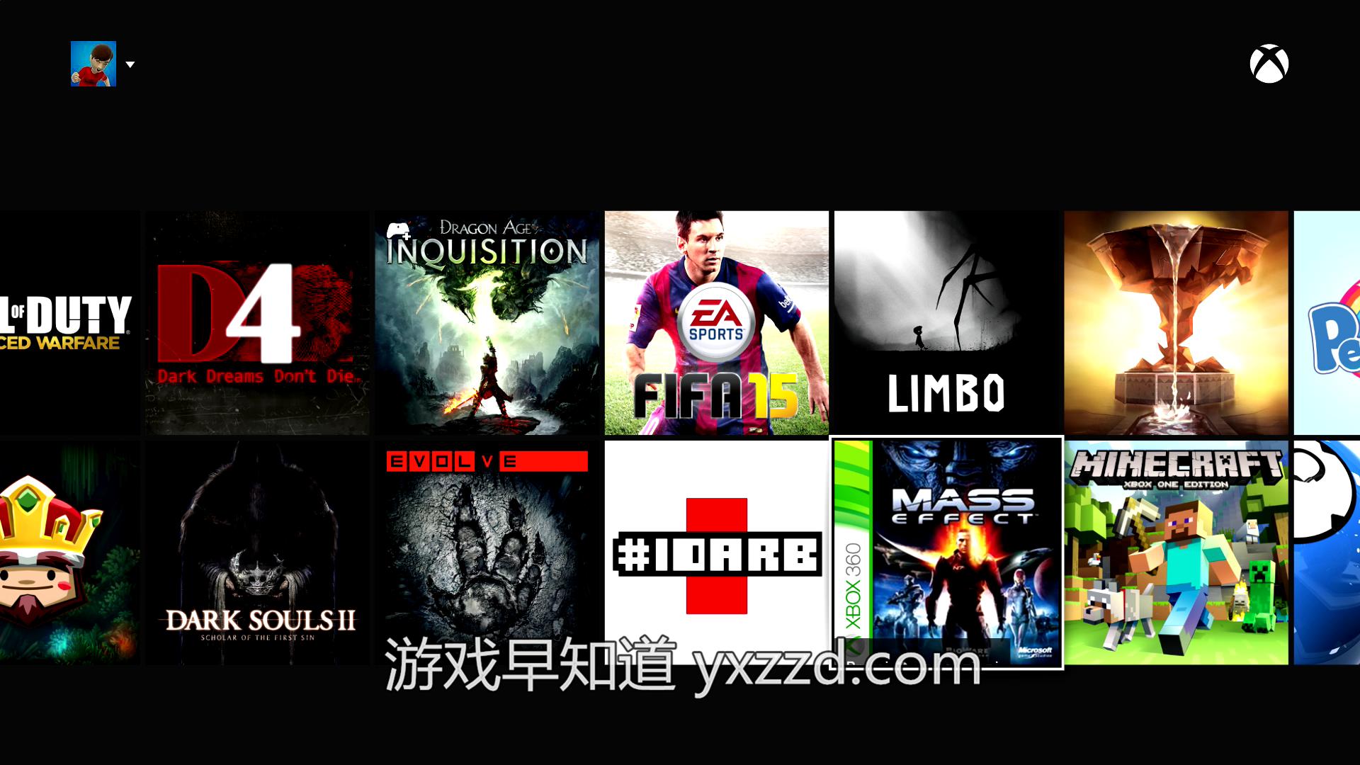 Xboxone向下兼容360游戏