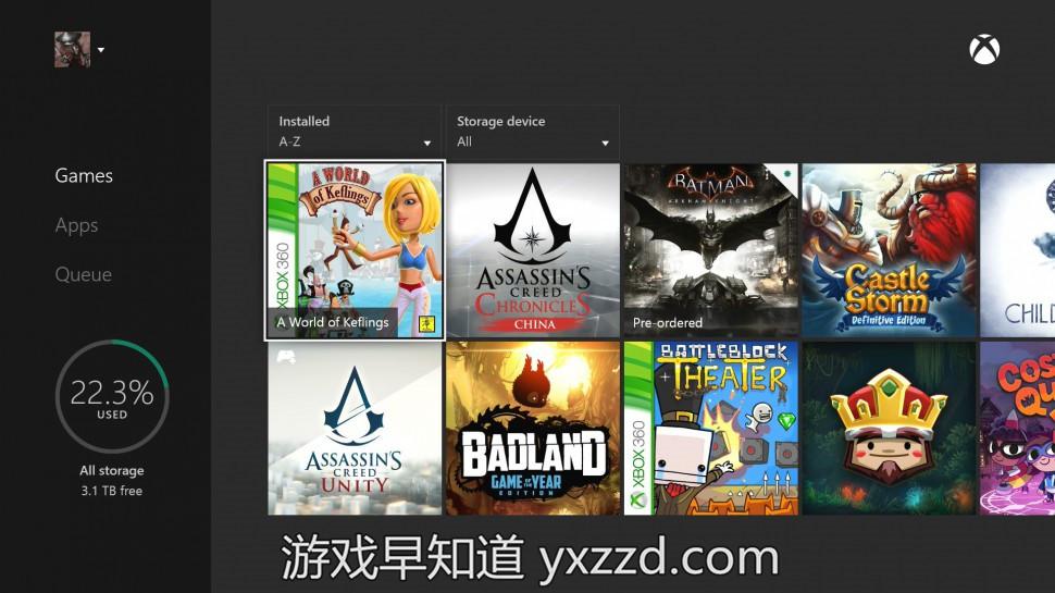Xboxone向下兼容xbox360游戏